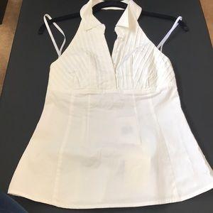 Guess cotton stretch Halter button shirt